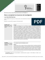 Marco Conceptual en El Proceso de Investigación (2012)