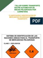 clasificacion mercancias peligrosas