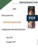 Engineering Management Training2014