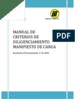 Manual Criterios de Diligenciamiento Manifiesto de Carga Electrónico