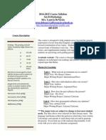 SciFiMythology Syllabus 2014-15