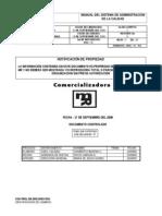 Manual de Calidad Comercializadora Mr