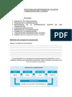 Material de Apoyo Para Los Participante Del Taller de Comunicación Oral y Escrita