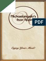 Michaelangelos Menu