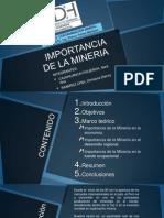 Importacia de La Mineria RAMIREZ CAJAHUANCA