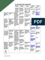 julys math interm calendar