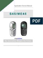 Siemens S45 ME45 V10 Service Manual