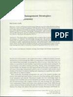 Knowledge Management Strategies - Toward a Taxonomy