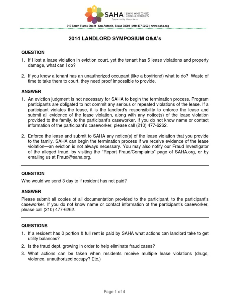2014 landlord symposium questions and answers eviction lease