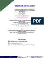 Mercedes Comand Unlock Codes