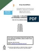Drop Shape Humidifier Manual