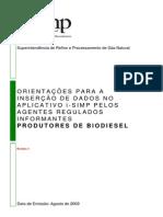 I-simp Orientacoes Biodiesel