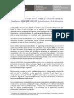 EVALUACIÓN CENSAL DE ESTUDIANTES DE 2º GRADO 2009