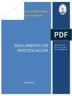 Reglamento Investigacion Upao