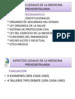 Aspectos Legales de La Medicina Prehospitalaria i Clase