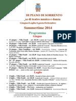 Programma Summertime 2014 - Piano Di Sorrento