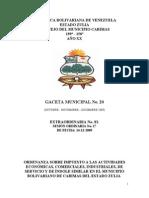 Ordenanza de Impuestos a Las Actividades Economicas 18-01-2010 Cabimas