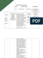 PLANIFICACIÓN DIARIA 2014- 4°