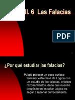 III. 6 Las Falacias