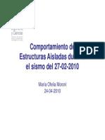 Comportamiento de Est. Aisladas en El Sismo 27022010