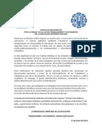 Convocatoria Marcha Sindicato 1 UDP (histórico), Trabajadores y Estudiantes del Sector Privado