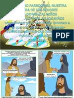 HOJITA EVANGELIO  SOLEMNIDAD DE LA SANTÍSIMA TRINIDAD CICLO A SERIE