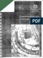 Especificaciones Para El Concreto Estructural en Edificios - IMCYC
