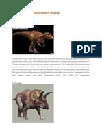 Macam Macam Dinosaurus Lengkap