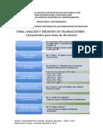 Analisis y Registro de Transacciones Corolario Mlr Enero14