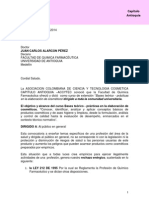 Carta Al Decano Facultad QF Universidad Antioquia