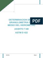 DETERMINACION DE LA GRANULOMETRIA POR MEDIO DEL HIDROMETRO.docx