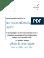 Afiche Toma de Encuestas KineDelDeporte - Escuela de Kinesiología