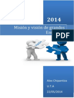 Vision y Mision de Grandes Empresas