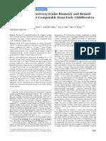 Asociacion Biometria Ocualr y Calibre Vascular Retineal