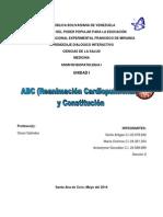 ABC (Reanimacion Cardiopulmonar) y Constitución