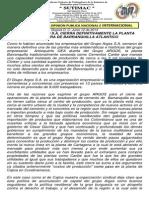 comunicado a la opinion publica cierre planta barranquilla junio 12 de 2014