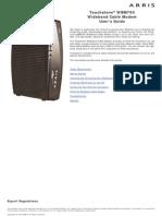 ARRIS Cable Modem WBM Rel 3 WBM760 User Guide Std2-0