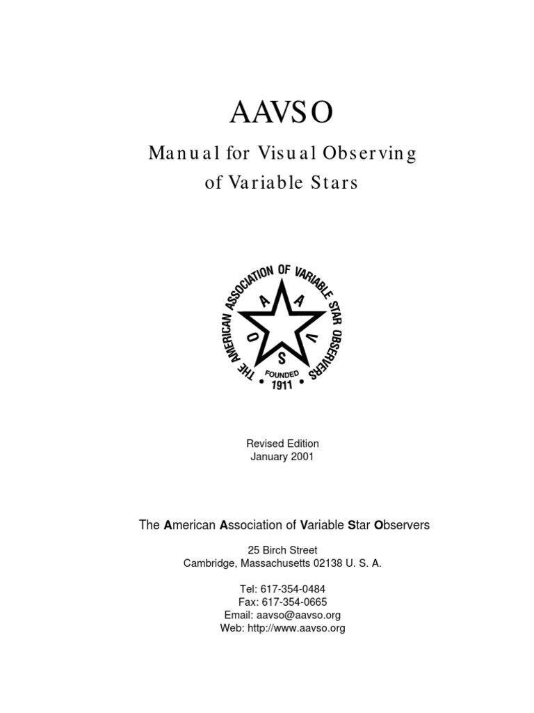 Visually Observing Variable Stars   Apparent Magnitude   Stars