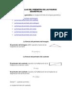 Las Fórmulas Del Perímetro de Las Figuras Geométricas