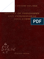Gilson - History of Philosophy and Philosophical Education