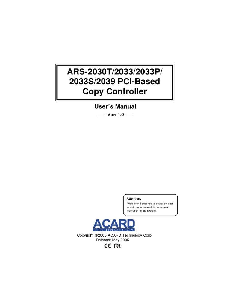 ACARD ARS-2033 TREIBER WINDOWS 7