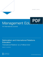 Nationalism and International Relations Education