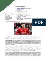 BIOGRAPY Cristiano Ronaldo