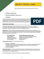 Job Description Guide
