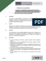 Directiva Inscripcion Renovacion Aumento Cmc Ejecutores y Consultores de Obra