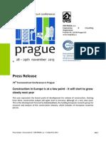 Prague Euroconstruct Conference Press Release