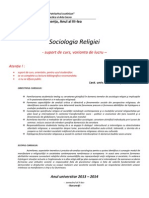 Curs sociologia religiei 2