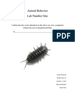 Animal Behavior-Lab One