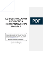 Agricultural Crop Production Module 1 - Entrepreneurship