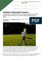 Pinhole Panoramic Camera MAKE